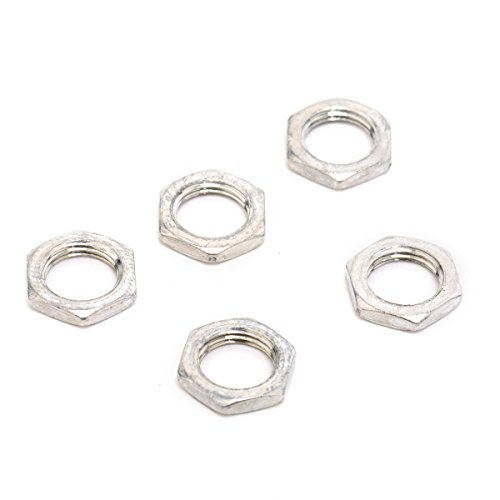 (Musiclily 8MM Guitar Bass Pots Potentiometer Hex Nut for Fender strat stratocaster Tele Telecaster Replacement(Pack of 10) )