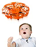 Refasy Flying Toys for Kids, UFO Toy for Boys 3 4 5 6 7 8 9 10 11 12 Year Old Drones for Kids Mini Drones Hand Controlled Flying Ball Drone Toys LED Light for Kids, Boys and Girls Toys Orange