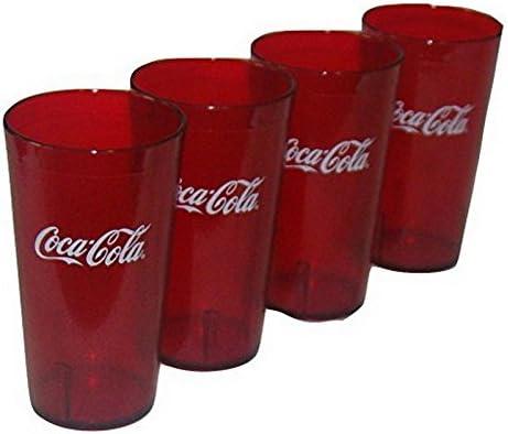 New 6 Coke Coca Cola Restaurant Red Plastic Tumblers Cups 16oz Carlisle