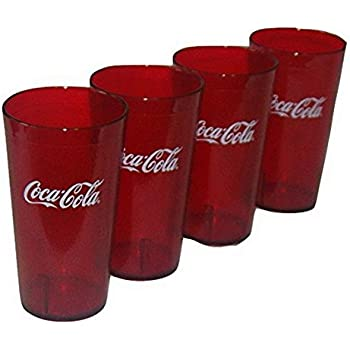 Amazon.com | Coca-Cola Cups, Red Plastic Tumbler 24-Ounce Restaurant ...