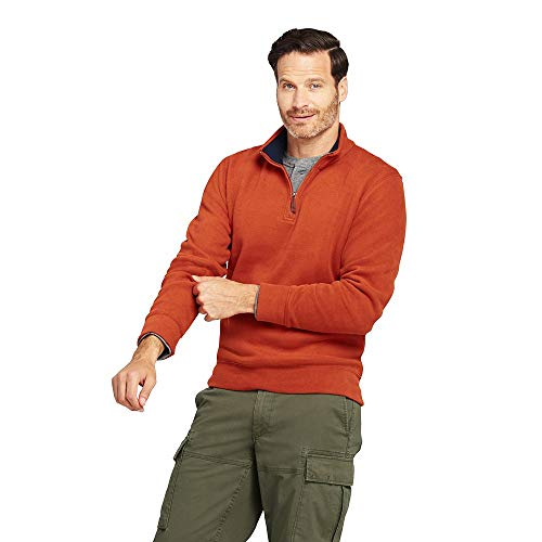 fa6331f3237f7 Lands  End Men s Bedford Rib Quarter Zip Sweater