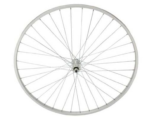 27'' x 1 1/4'' Alloy Front Wheel 14G Sliver.Bicycle wheel, bike wheel, 27'' bike wheel, 27'' bicycle wheel, fixed gear bike, track bike, bike part, bicycle part by Lowrider