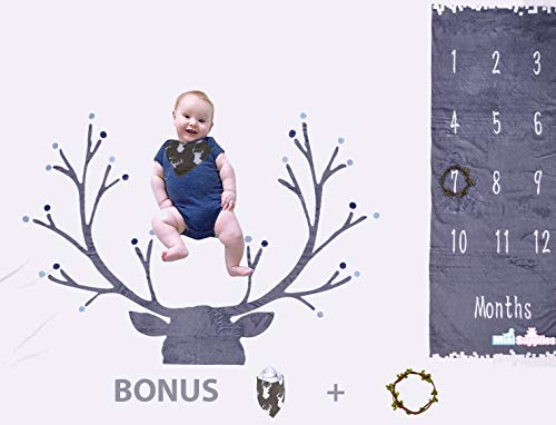 Baby Monthly Milestones Blanket Large 60
