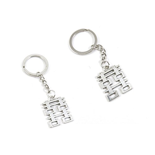 1 PCS Double Happiness Keychain Keyring Jewelry Making Charms Door Car Key Tag Chain Ring X2AA4T ()