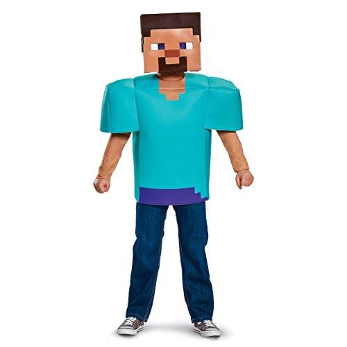 Steve Classic Minecraft Costume, Multicolor,