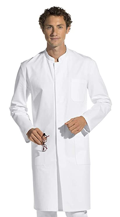 Bata de hombre, manga larga, blanco, algodón (46)