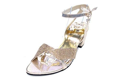 dorado mujer de dorado Sandalias UK Wear Walk vestir amp; para wUzFAqSZ
