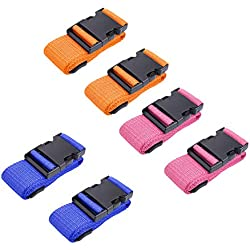 6 Packs Luggage Straps, Luggage Belt for Travel, Luggage Straps for Suitcases Add a Bag