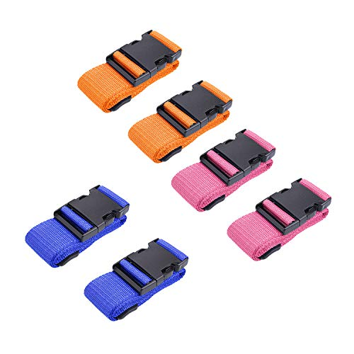 Luggage Belt - 6 Packs Luggage Straps, Luggage Belt for Travel, Luggage Straps for Suitcases Add a Bag