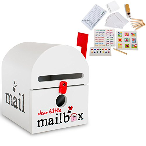 Dear Little Mailbox, Wooden Kids Play and Craft Mailbox, Creative, Educational Play Set, -