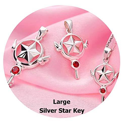 - Card Captor Sakura 925 Sterling Silver Star Pendant Cardcaptor Sakura Animal Necklace Women Necklaces