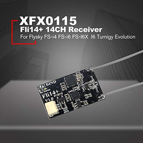 Wikiwand Fli14+ 14CH Receiver with PA OSD RSSI for Flysky FS-i4 FS-i6 FS-I6X FS-i6S by Wikiwand (Image #3)
