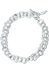 "Kid's Silver 7"" Charm Bracelet"
