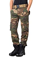 OCHENTA Homme Adultes Combat Pantalons Treillis Militaire Cargo Armee Pantalon de Travail Multi Poches Coton (Sans Ceinture)
