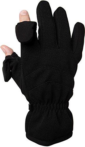 Gants avec bout des doigts repliables et aimantés et doublure en Thinsulate – dos imperméable et coupe-vent, idéaux pour le ski ou la photographie.