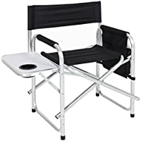 Sporting Comfortably Take It Camping Event Table With a Cup Holder Director Seat Organizational Pouch BCP Aluminum Folding Picnic Camping Chair W/ Table Tray Game Days Relaxing outside Homesures16