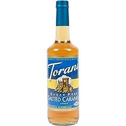 Torani Sugar Free Salted Caramel Syrup, 25.4 Oz