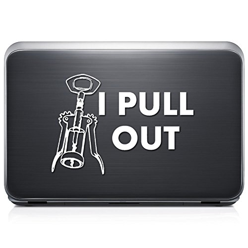 I Pull Out Sex Funny PERMANENT Vinyl Decal Sticker For Laptop Tablet Helmet Windows Wall Decor Car Truck Motorcycle - Size (20 Inch / 50 Cm Wide) - Color (Gloss Black) by GottaLoveStickerz
