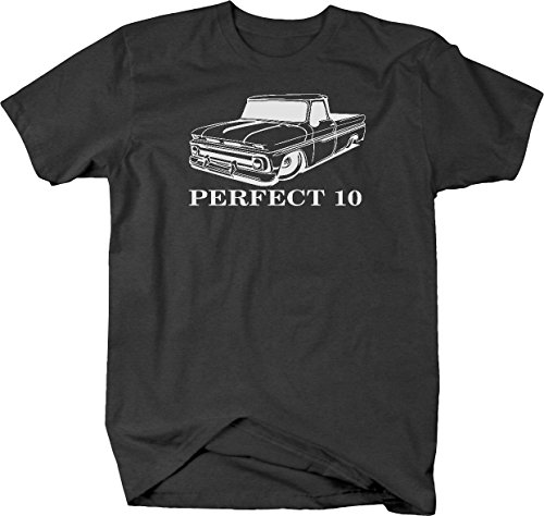 Perfect 10 Chevy C10 GMC Fleetside Lowered 1960-66 Pickup Truck Tshirt - Medium