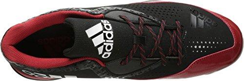 adidas Performance Herren PowerAlley 4 Baseballschuh Schwarz / Weiß / Power Rot