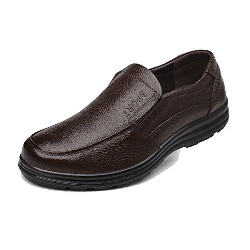 踊り子クラシカル慢なBLLendina メンズ 作業靴 耐油  防水 スニーカー シューズ スリッポン 革靴 ローカット
