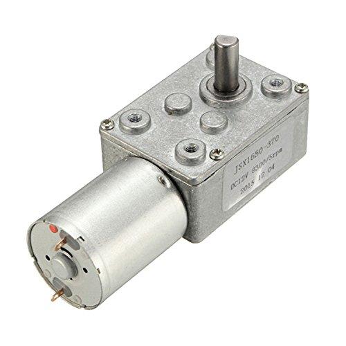 Hitommy DC 12V 5RPM High Torque Turbine Worm Gear Box Reduction Motor