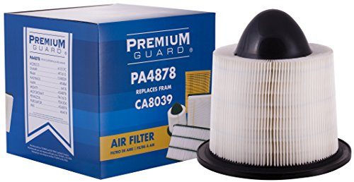 Premium Guard Air Filter PA4878 | Fits 2014-2003 Ford E-150, 2014-2003 Ford E-250, 2018-1999 Ford E-350 Super Duty, 2017-2003 Ford E-450 Super Duty, 2004-1997 Ford Expedition, 2008-1997 Ford F-150, 20 ()