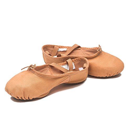 Sansha–Zapatos de Ballet Zapatillas demi-pointes adultos en lienzo modelo 1C pro1C beige claro