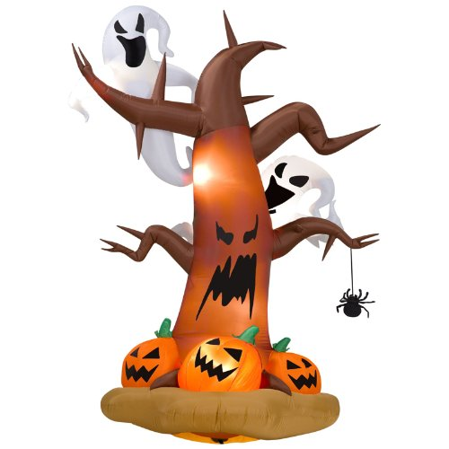 Air Blown Dead Tree with Ghost (Standard) (Halloween Inflatable Dead Tree)