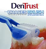 Toothbrush for Braces DenTrust 3-Sided BRACES BRUSH :: Orthodontic's Specialty Toothbrush :: Made in USA