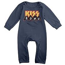 Unisex-baby Kiss Band Members Long Sleeve Jumpsuit Bodysuits Sleepwear