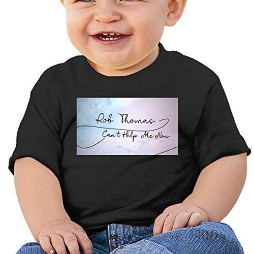 DerekAKnight Rob Thomas 6 Months to 2 Years Old Boy Girl Short Sleeve Pajamas T Shirt Black