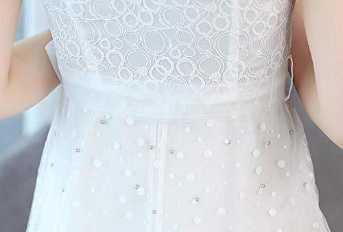 Para Verano De Corta Media Largo A Blanco Mujer Vestido Slr Pierna Manga Con YgXx0aqwHn