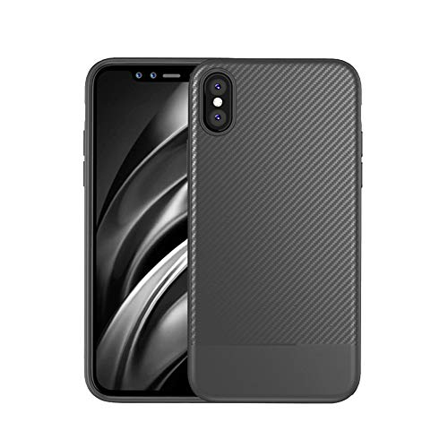 Halloween Hot Sale iPhone Case Cover!!!Kacowpper Compatible iPhone XR/XS /XS Max Case Shock Carbon Fiber Cover Flexible TPU Bumper - Crystal 1978 Glass