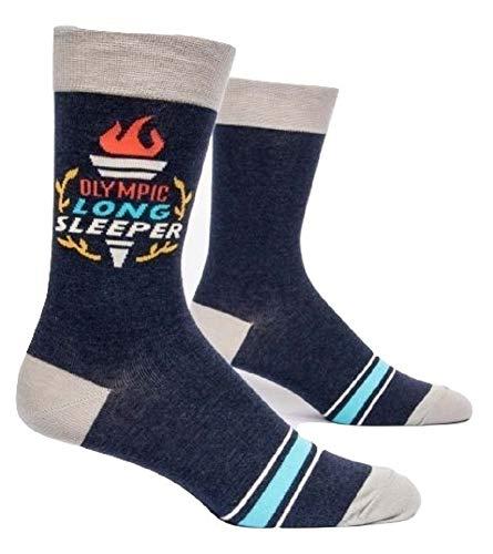 (Blue Q Men's Crew Socks Olympic Long Sleeper)