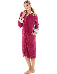Casual Nights Women's Zip Front Plush Fleece Robe