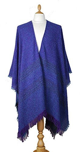 Kerry Woollen Mills Celtic Ruana Long Shawl Irish Wool Lambswool Purple Mara by Kerry Woollen Mills