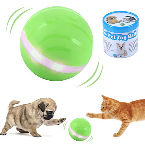 Ritatsar Upgraded Interactive Pet Toy Ball for Cat Dog,Built-in Gravity Sensor,USB Rechargeable,360 Degree Auto Rolling/Turn Off,RGB LED Lights,Waterproof Durable Rubber Smart Train Chase Wicked Toys