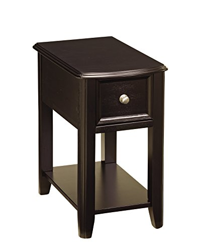 Ashley Furniture Signature Design - Breegin Chair Side End Table - Contemporary Style - Rectangular - Dark Finish (Furniture Slim)