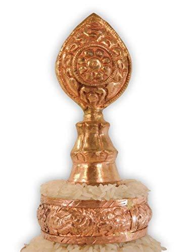 Hands Of Tibet Copper Mandala Offering Set 5 Inch Diameter (5'' Gold) by Hands Of Tibet (Image #3)