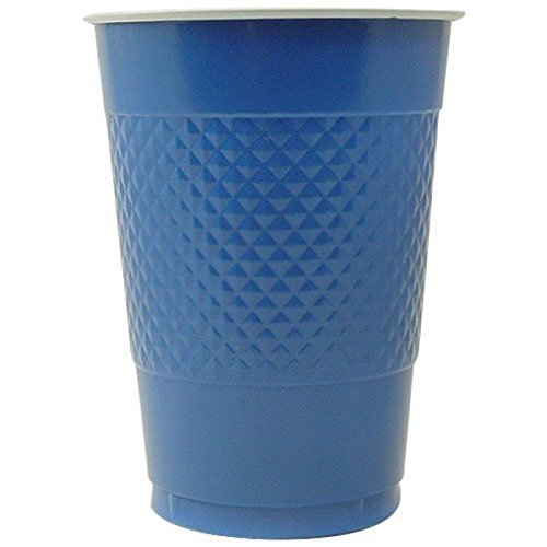 Hanna K. Signature Collection 100 Count Plastic Cup, 16-Ounce, Blue