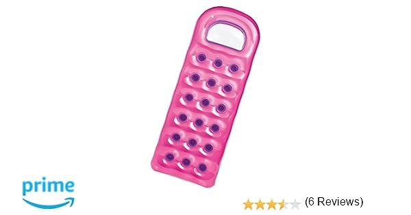 Intex - Colchoneta hinchable, 18 vasos, 188 x 71 cm, color rosa y ...