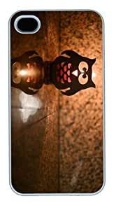 covers wholesale owl candle lantern PC White Case for iphone 4/4S