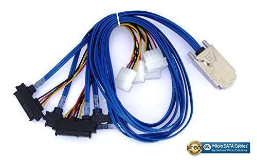 1 Meter Micro SATA Cables External Infiniband SAS SFF-8470 to 4 X SAS SFF-8482 29 Pin