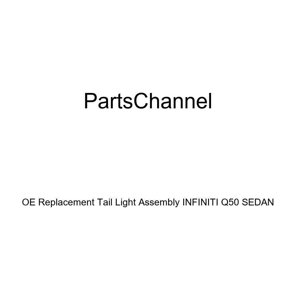 PartsChannel IN2805101OE OE Replacement Tail Light Assembly INFINITI Q50 SEDAN