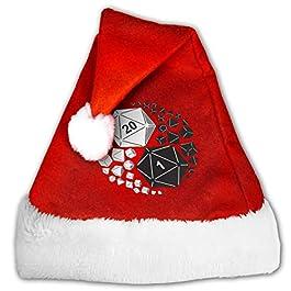 Dungeons and Dragons Yin Yang Mens Women's Christmas Hat Cap Gold Velvet Hat