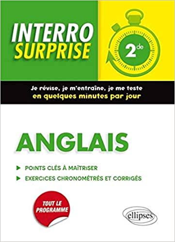 Interro Surprise Anglais Seconde Grammaire Vocabulaire