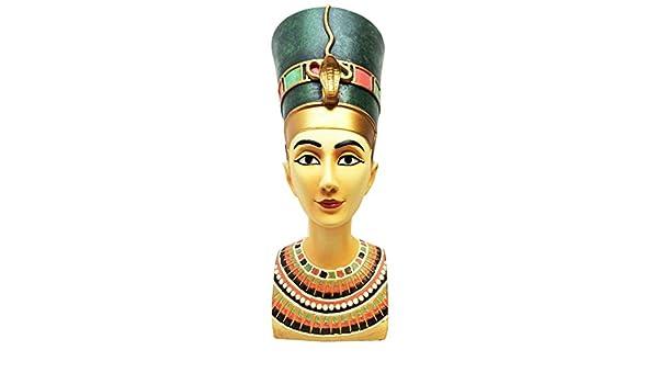 Hermosa grande antiguo egipcio Reina Nefertiti Busto Estatua ...