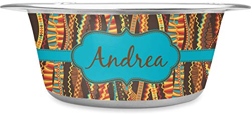 RNK Shops Tribal Ribbons Stainless Steel Pet Bowl - Large (Personalized)