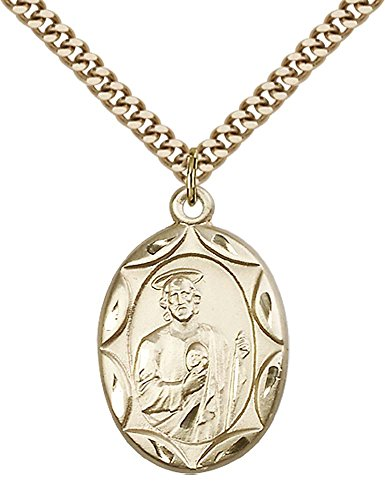 F A Dumont 14kt Gold Filled St. Jude Pendant with 24